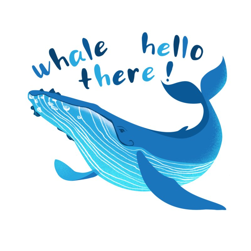 Whale hello there! by Melissa Lee Design