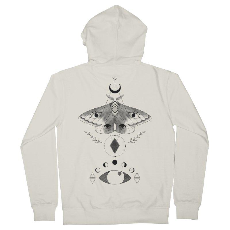 Mystic Moth Men's Zip-Up Hoody by MissabeeART