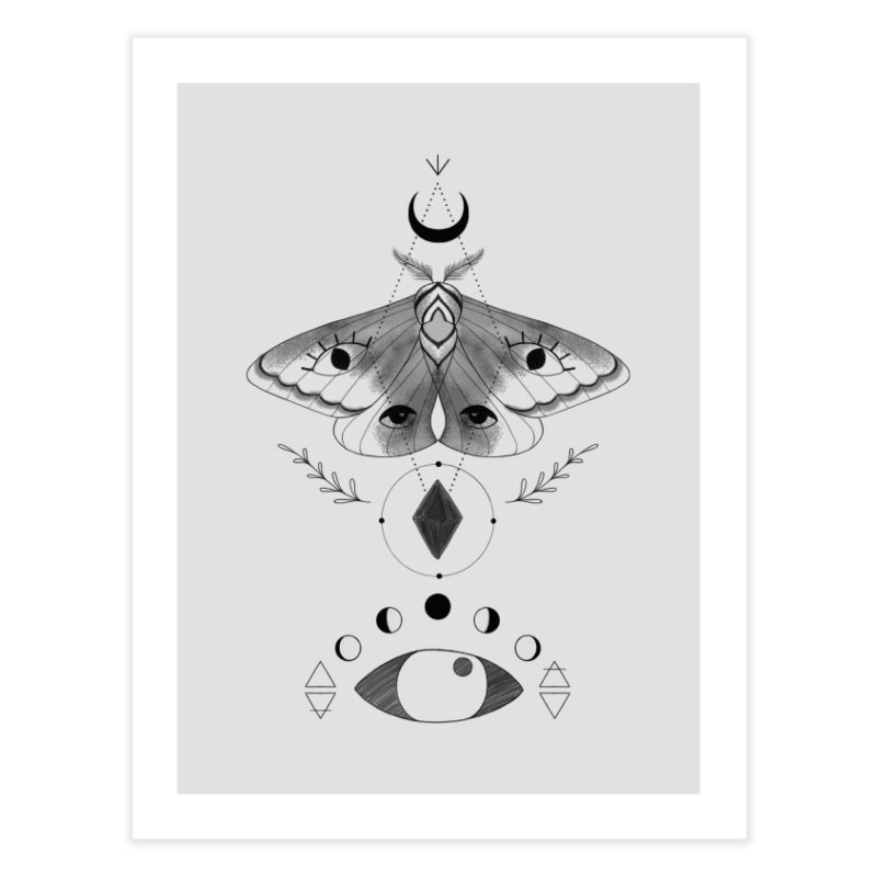 Mystic Moth Home Fine Art Print by MissabeeART