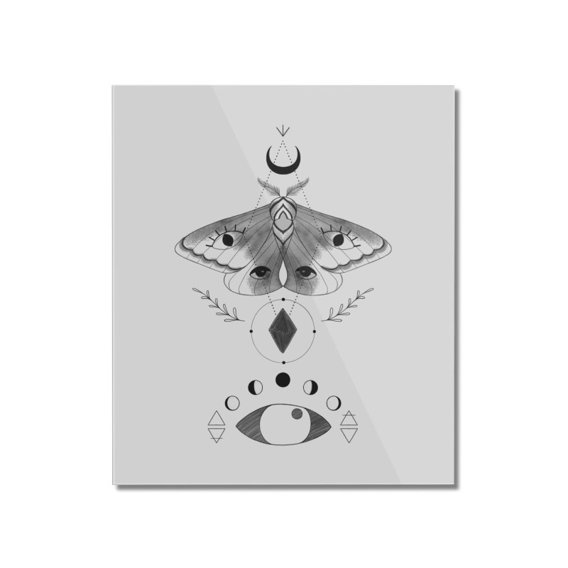 Mystic Moth Home Mounted Acrylic Print by MissabeeART