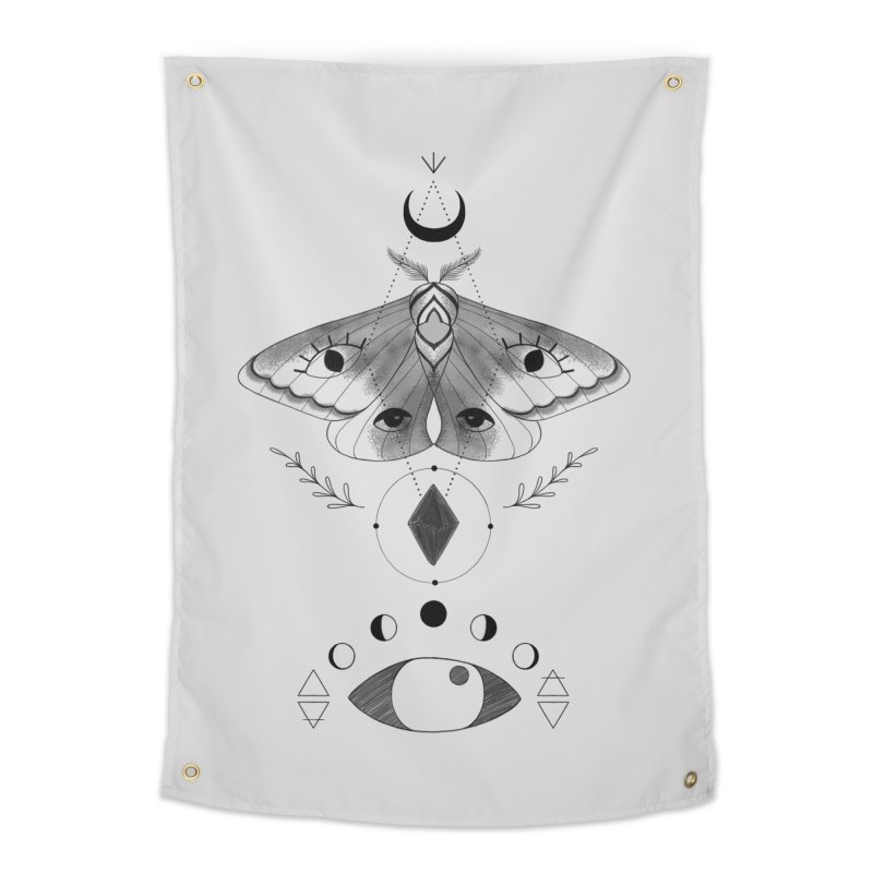 Mystic Moth Home Tapestry by MissabeeART