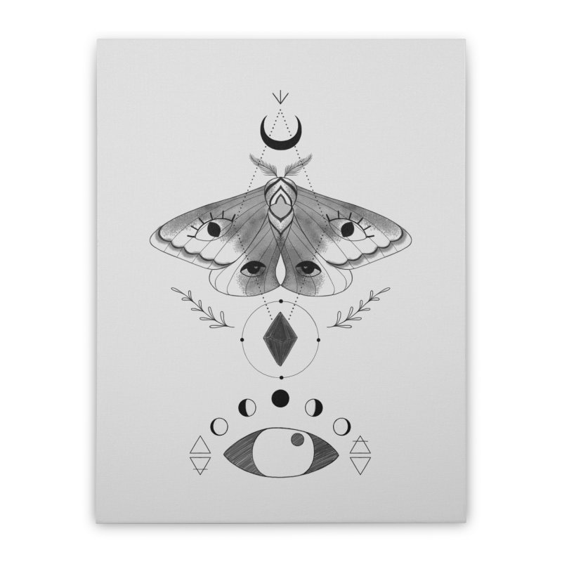 Mystic Moth Home Stretched Canvas by MissabeeART