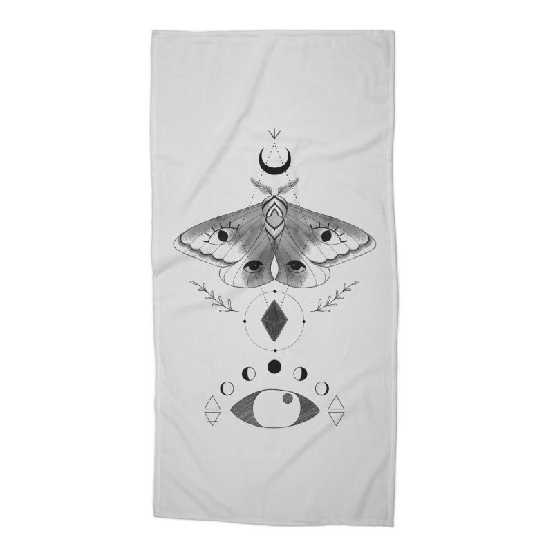 Mystic Moth Accessories Beach Towel by MissabeeART