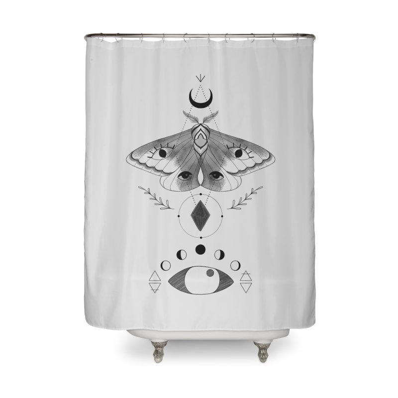 Mystic Moth Home Shower Curtain by MissabeeART