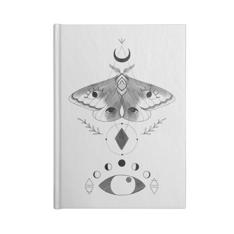 Mystic Moth Accessories Notebook by MissabeeART