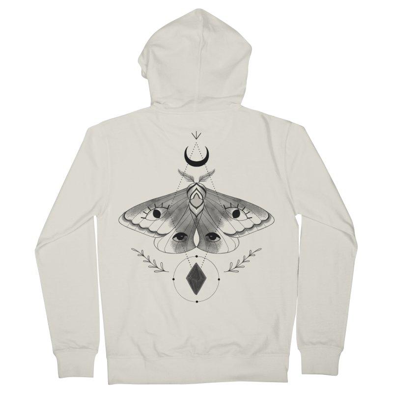 Mystic Moth V2 Women's Zip-Up Hoody by MissabeeART