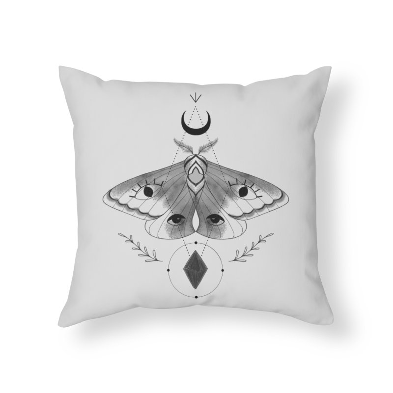 Mystic Moth V2 Home Throw Pillow by MissabeeART