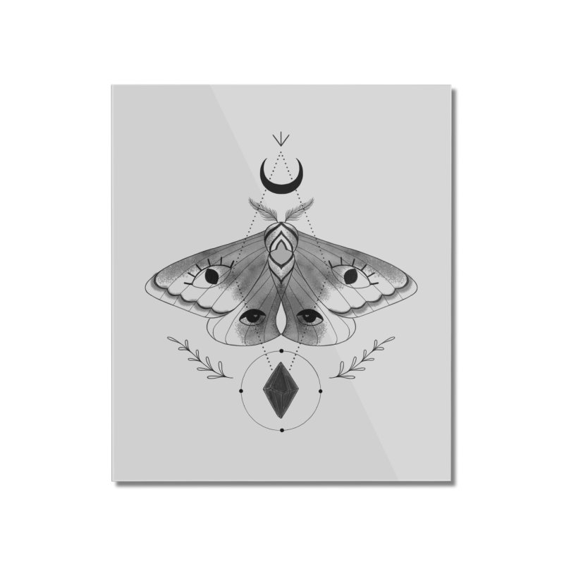 Mystic Moth V2 Home Mounted Acrylic Print by MissabeeART