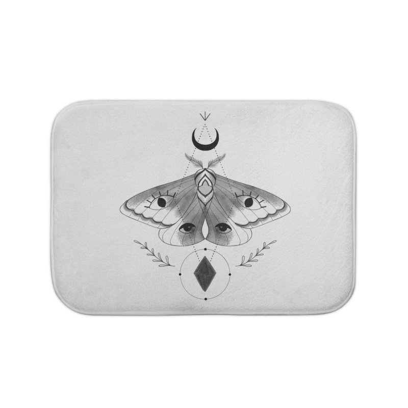 Mystic Moth V2 Home Bath Mat by MissabeeART