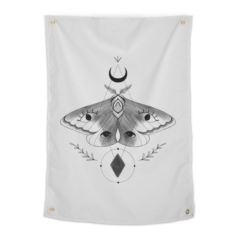 Mystic Moth V2 Home Tapestry by MissabeeART