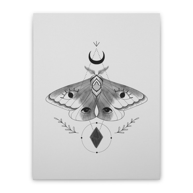 Mystic Moth V2 Home Stretched Canvas by MissabeeART