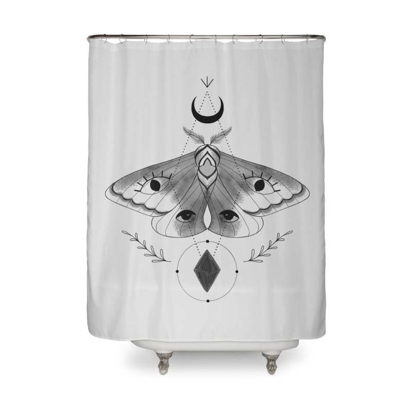 Mystic Moth V2 Home Shower Curtain by MissabeeART