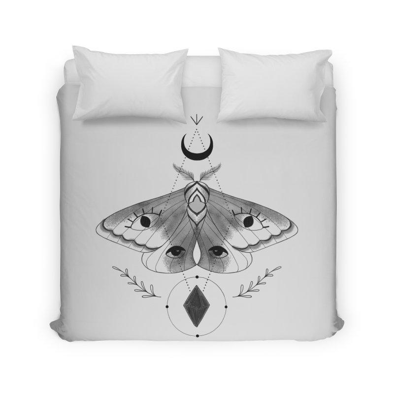 Mystic Moth V2 Home Duvet by MissabeeART