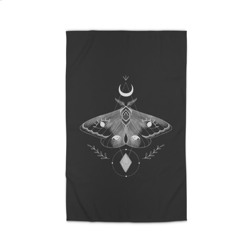 Mystic Moth - Black V2 Home Rug by MissabeeART