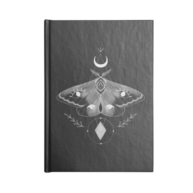 Mystic Moth - Black V2 Accessories Notebook by MissabeeART