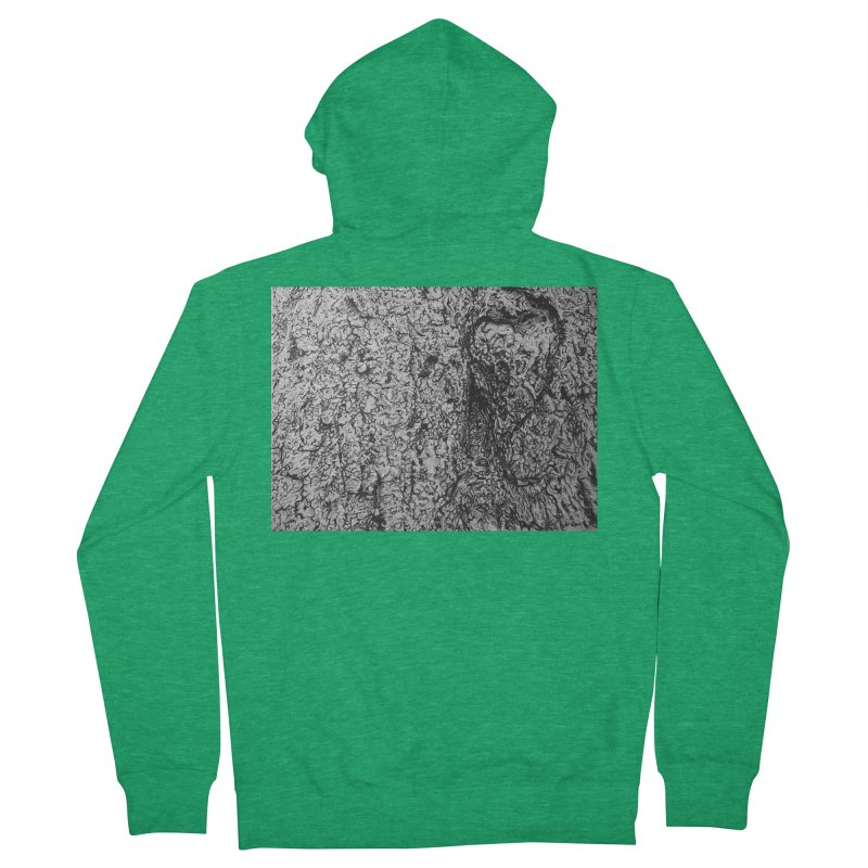 """""""charcoal tree bark 4"""" all around Women's Zip-Up Hoody by Miss Jackie Creates"""