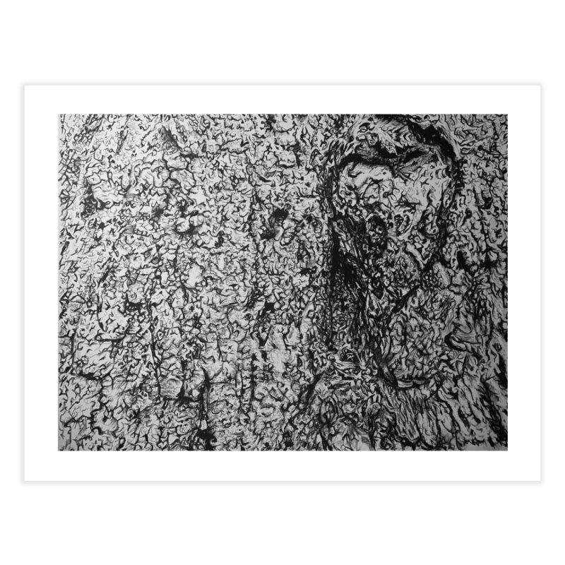 """charcoal tree bark 4"" all around Home Fine Art Print by Miss Jackie Creates"