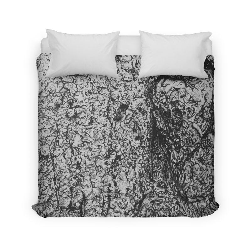 """""""charcoal tree bark 4"""" all around Home Duvet by Miss Jackie Creates"""