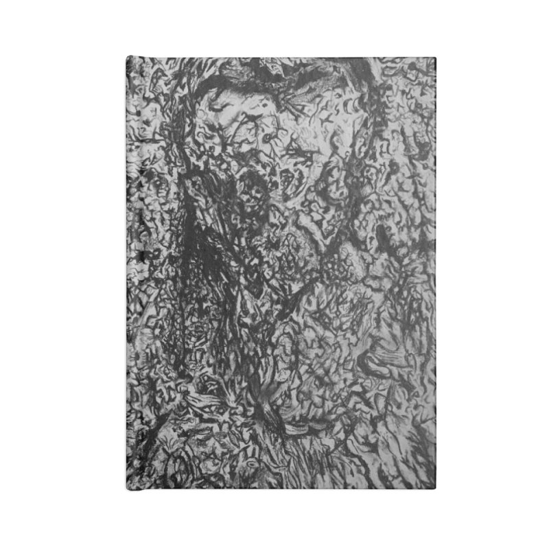 """charcoal tree bark 4"" all around Accessories Notebook by Miss Jackie Creates"