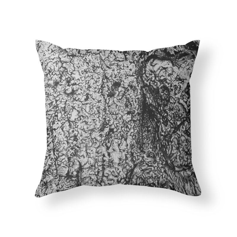 """""""charcoal tree bark 4"""" all around Home Throw Pillow by Miss Jackie Creates"""