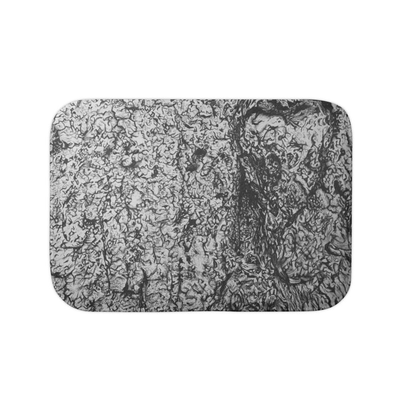 """""""charcoal tree bark 4"""" all around Home Bath Mat by Miss Jackie Creates"""