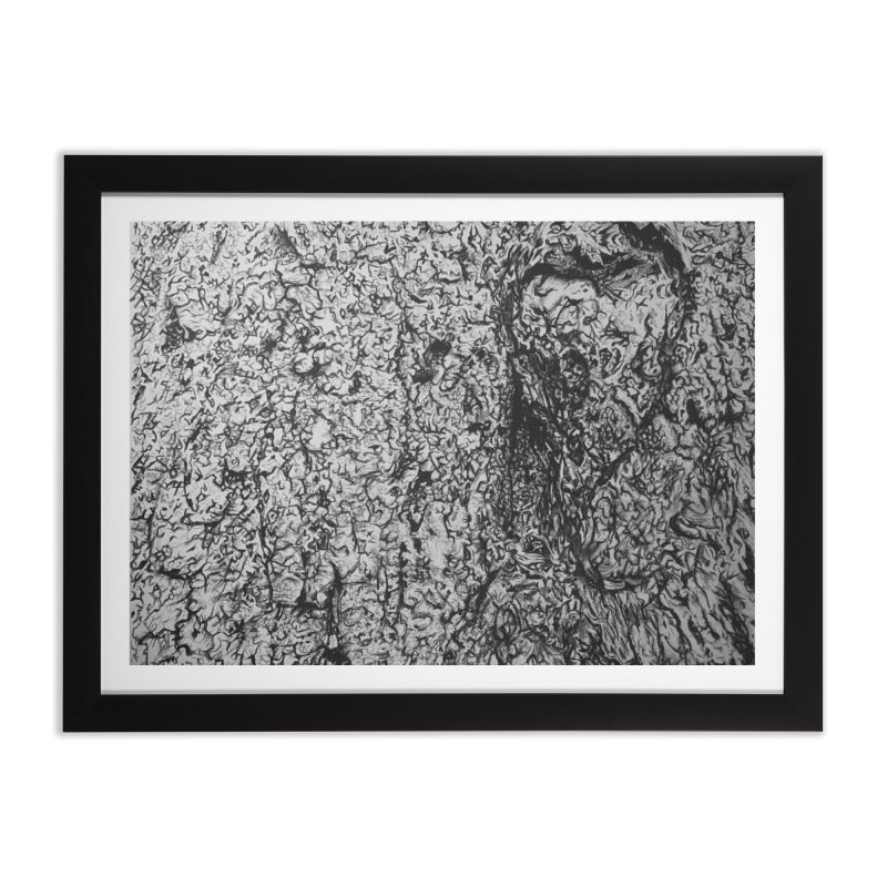 """""""charcoal tree bark 4"""" all around Home Framed Fine Art Print by Miss Jackie Creates"""