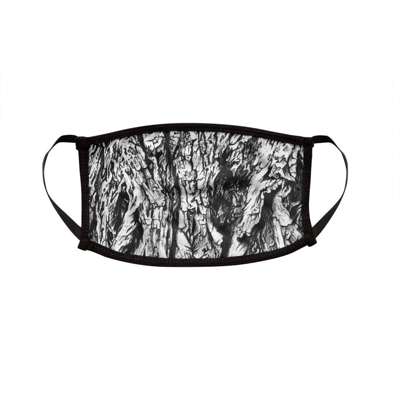 """charcoal tree bark 3"" all around Accessories Face Mask by Miss Jackie Creates"