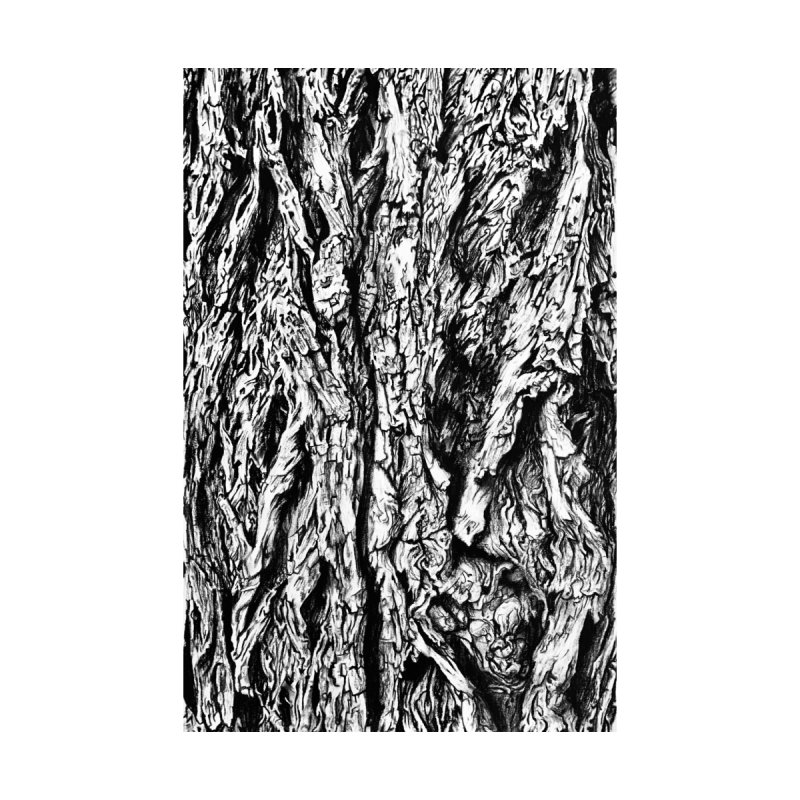 """charcoal tree bark 3"" all around Accessories Zip Pouch by Miss Jackie Creates"