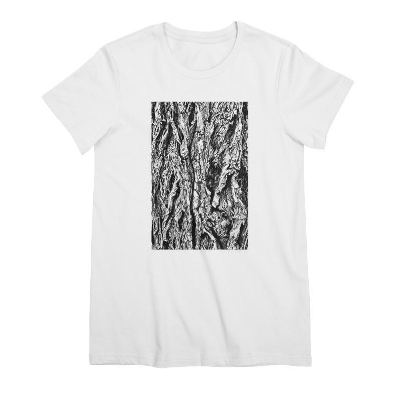 """""""charcoal tree bark 3"""" all around Women's T-Shirt by Miss Jackie Creates"""