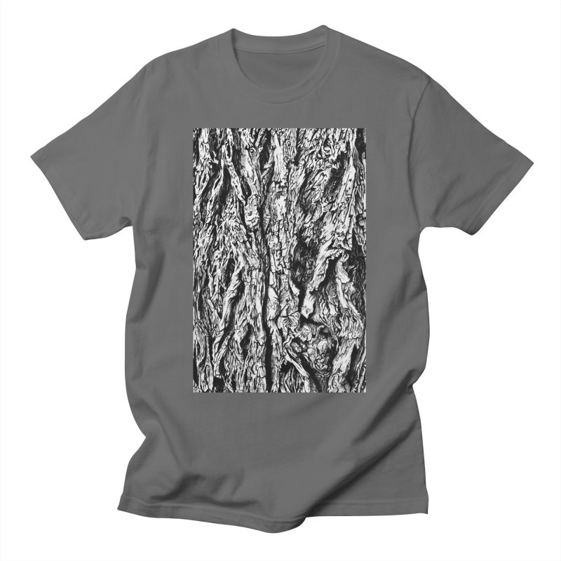 """""""charcoal tree bark 3"""" all around Men's T-Shirt by Miss Jackie Creates"""
