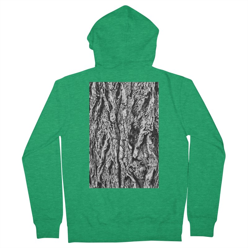 """""""charcoal tree bark 3"""" all around Women's Zip-Up Hoody by Miss Jackie Creates"""