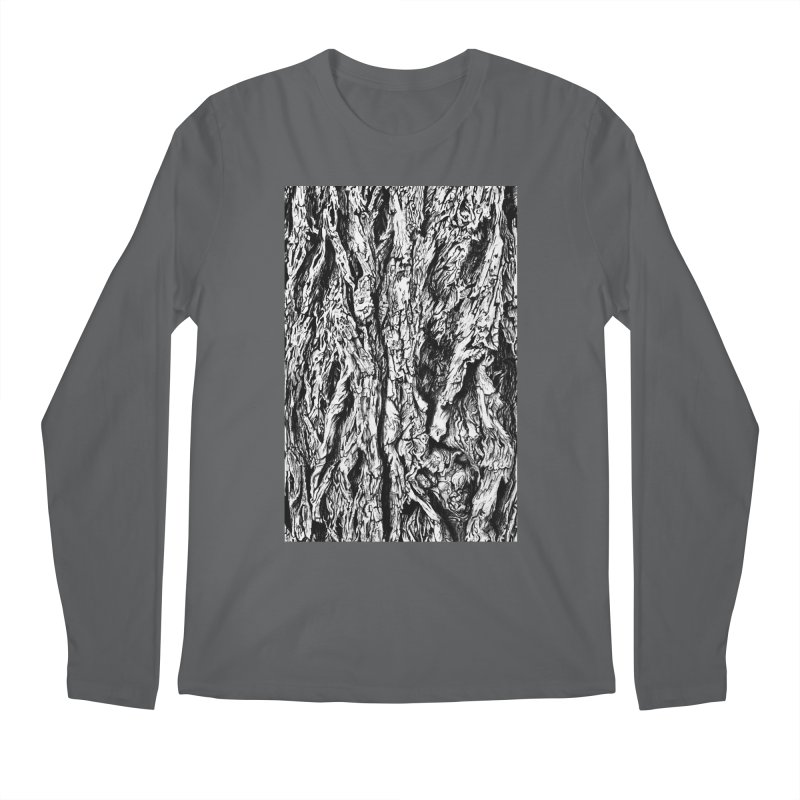 """""""charcoal tree bark 3"""" all around Men's Longsleeve T-Shirt by Miss Jackie Creates"""