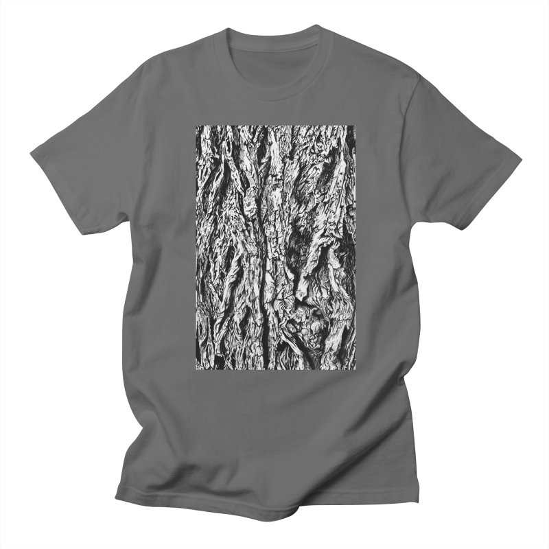 """charcoal tree bark 3"" all around Men's T-Shirt by Miss Jackie Creates"