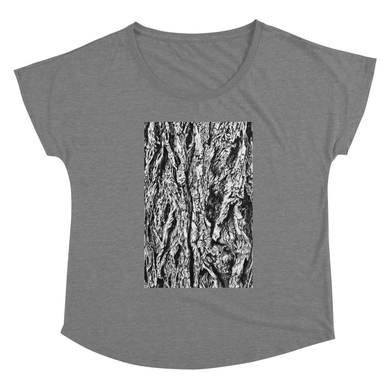 """""""charcoal tree bark 3"""" all around Women's Scoop Neck by Miss Jackie Creates"""