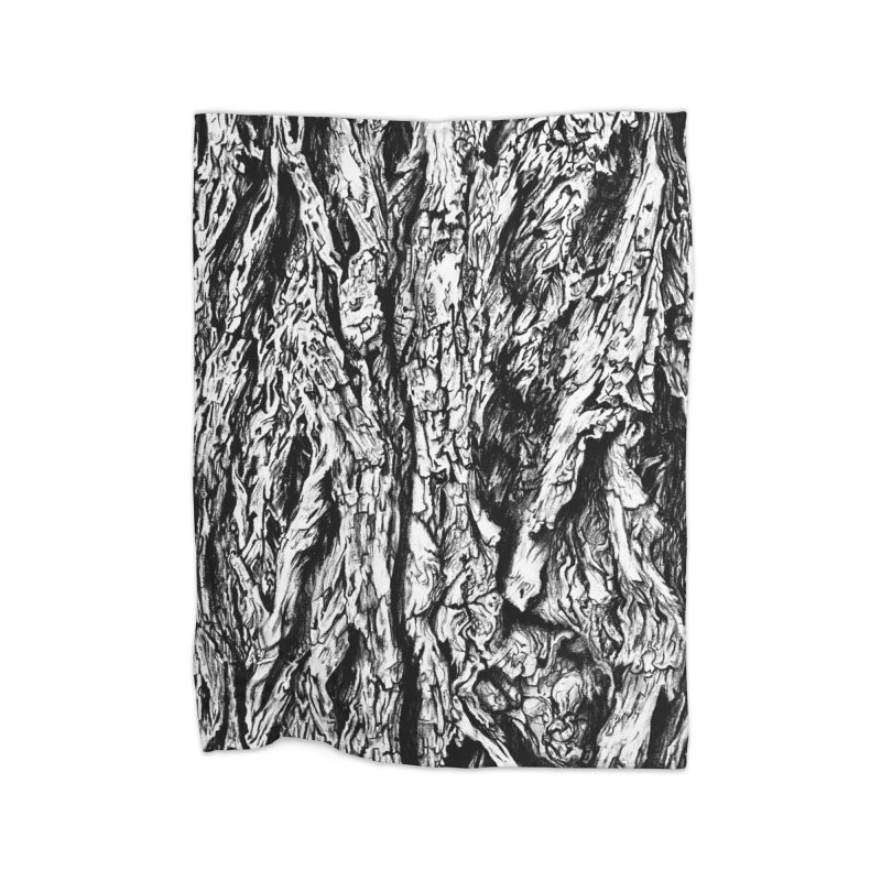 """""""charcoal tree bark 3"""" all around Home Blanket by Miss Jackie Creates"""