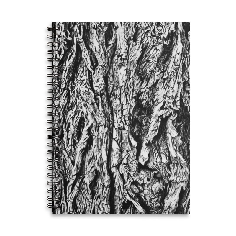 """""""charcoal tree bark 3"""" all around Accessories Notebook by Miss Jackie Creates"""