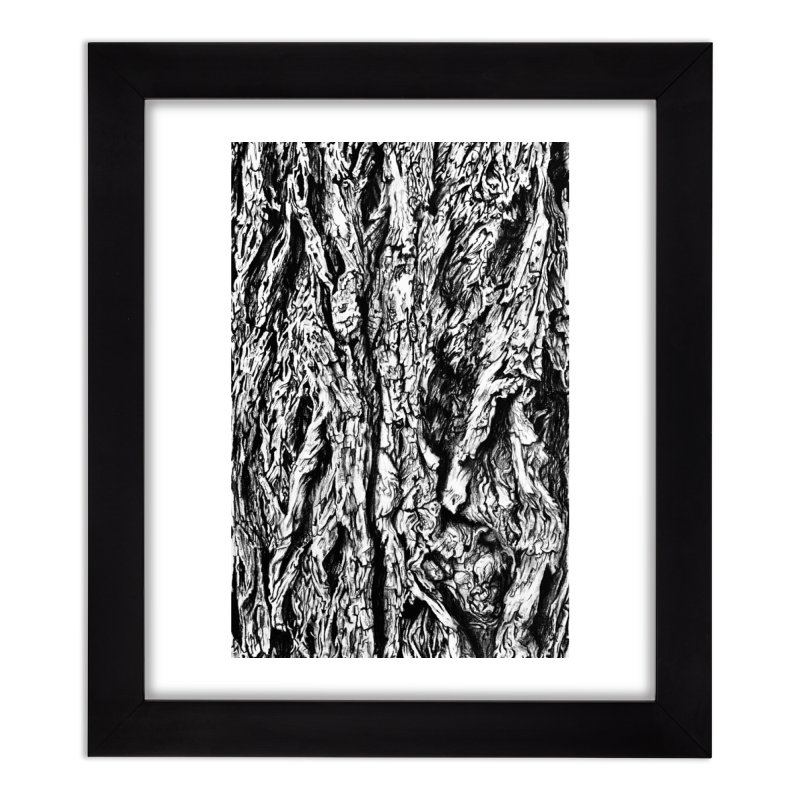 """""""charcoal tree bark 3"""" all around Home Framed Fine Art Print by Miss Jackie Creates"""