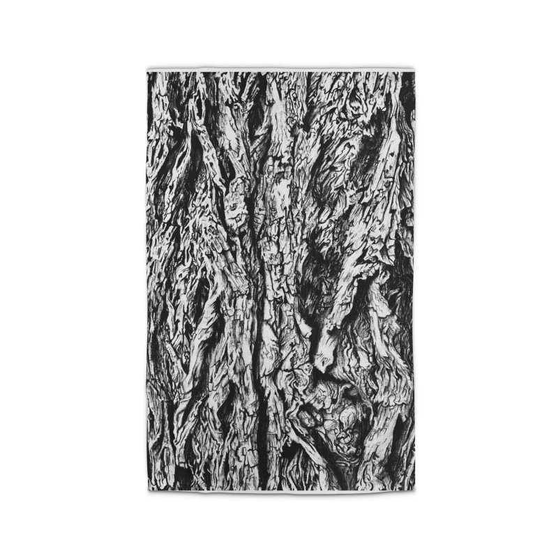 """""""charcoal tree bark 3"""" all around Home Rug by Miss Jackie Creates"""
