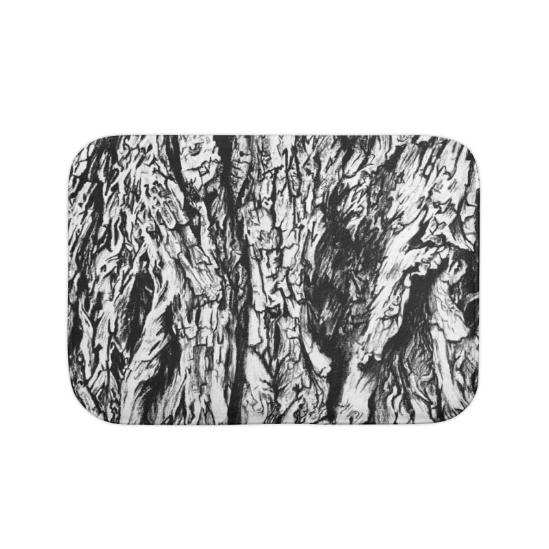 """""""charcoal tree bark 3"""" all around Home Bath Mat by Miss Jackie Creates"""