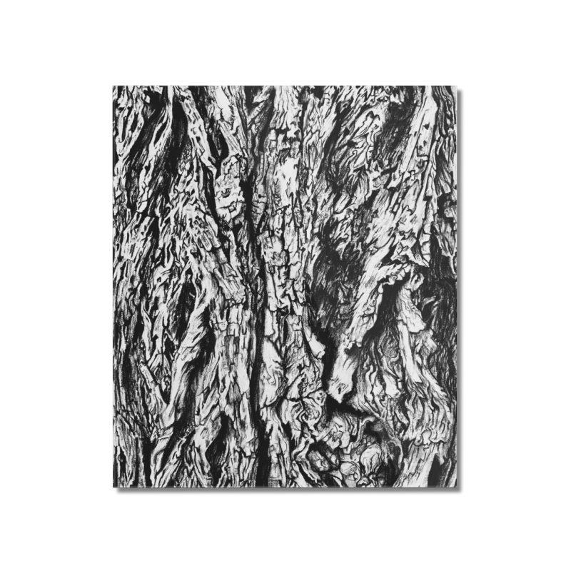 """""""charcoal tree bark 3"""" all around Home Mounted Acrylic Print by Miss Jackie Creates"""