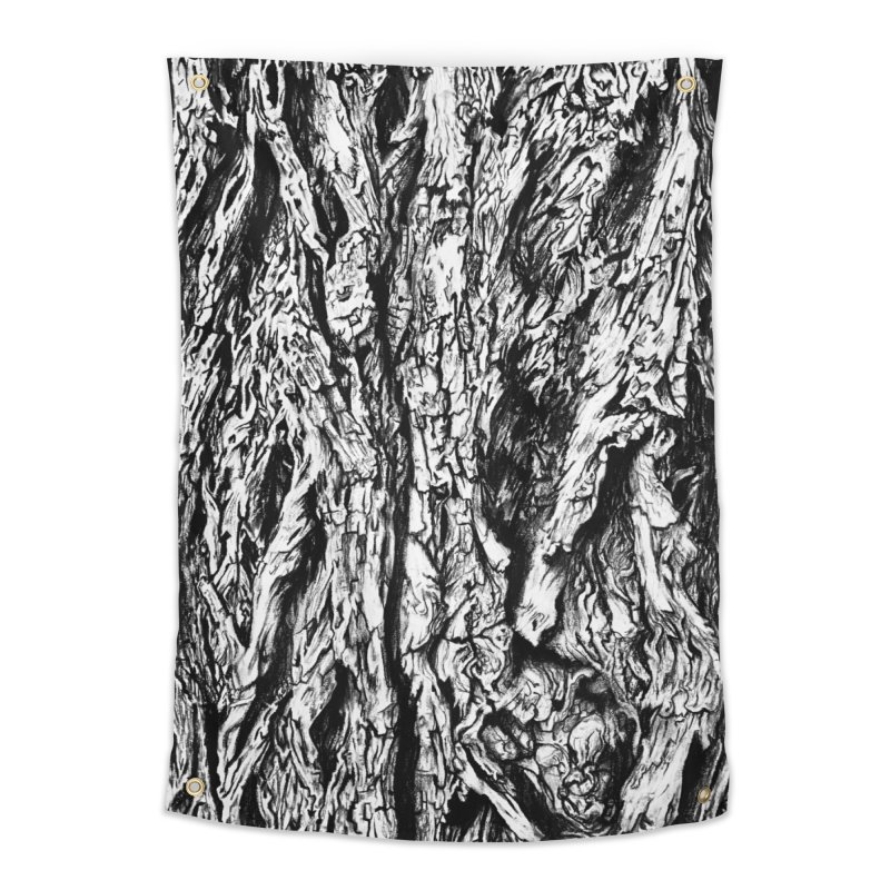"""""""charcoal tree bark 3"""" all around Home Tapestry by Miss Jackie Creates"""