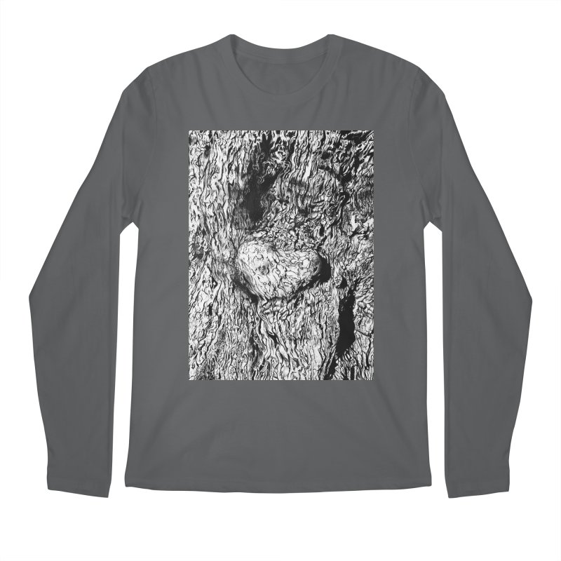 """""""charcoal tree bark 2"""" all around Men's Longsleeve T-Shirt by Miss Jackie Creates"""