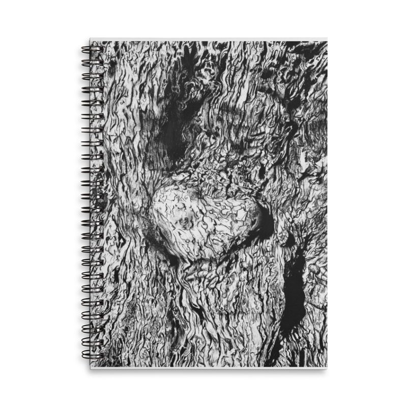"""""""charcoal tree bark 2"""" all around Accessories Notebook by Miss Jackie Creates"""