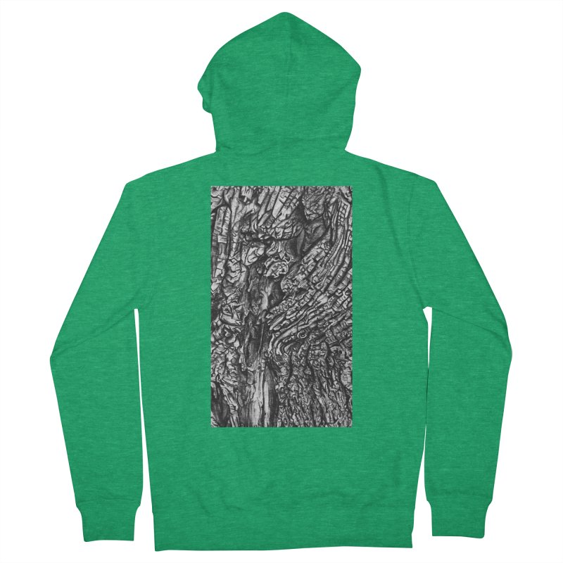 """""""charcoal tree bark 1"""" all around Women's Zip-Up Hoody by Miss Jackie Creates"""