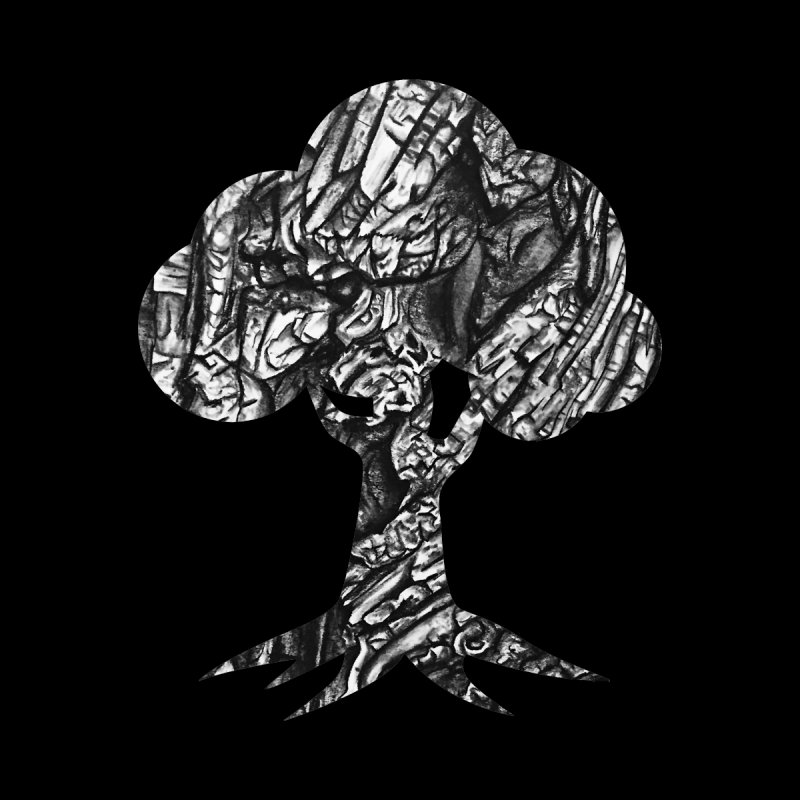"""""""charcoal tree bark 1"""" filled silhouette with black background Men's Longsleeve T-Shirt by Miss Jackie Creates"""