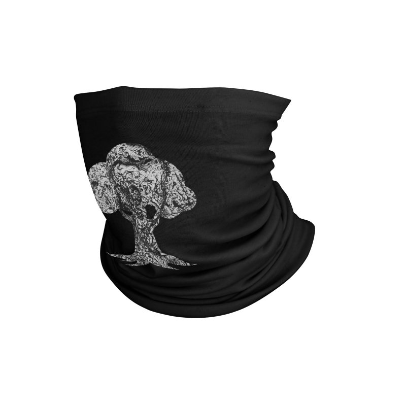 """""""charcoal tree bark 4"""" filled silhouette with black background Accessories Neck Gaiter by Miss Jackie Creates"""