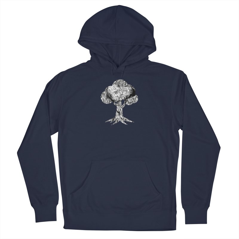 """""""charcoal tree bark 2"""" filled silhouette with white background Men's Pullover Hoody by Miss Jackie Creates"""