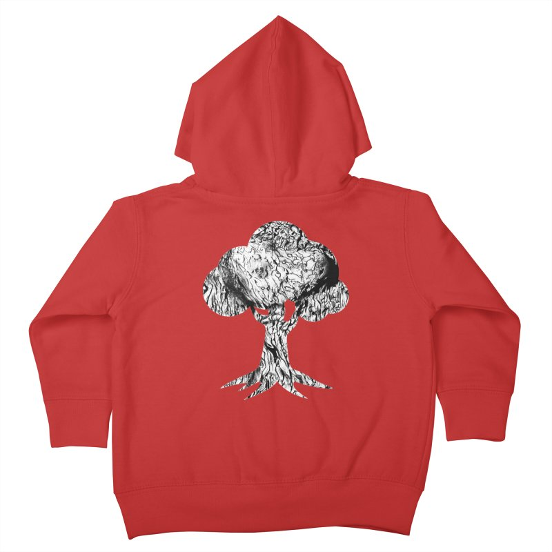 """""""charcoal tree bark 2"""" filled silhouette with white background Kids Toddler Zip-Up Hoody by Miss Jackie Creates"""
