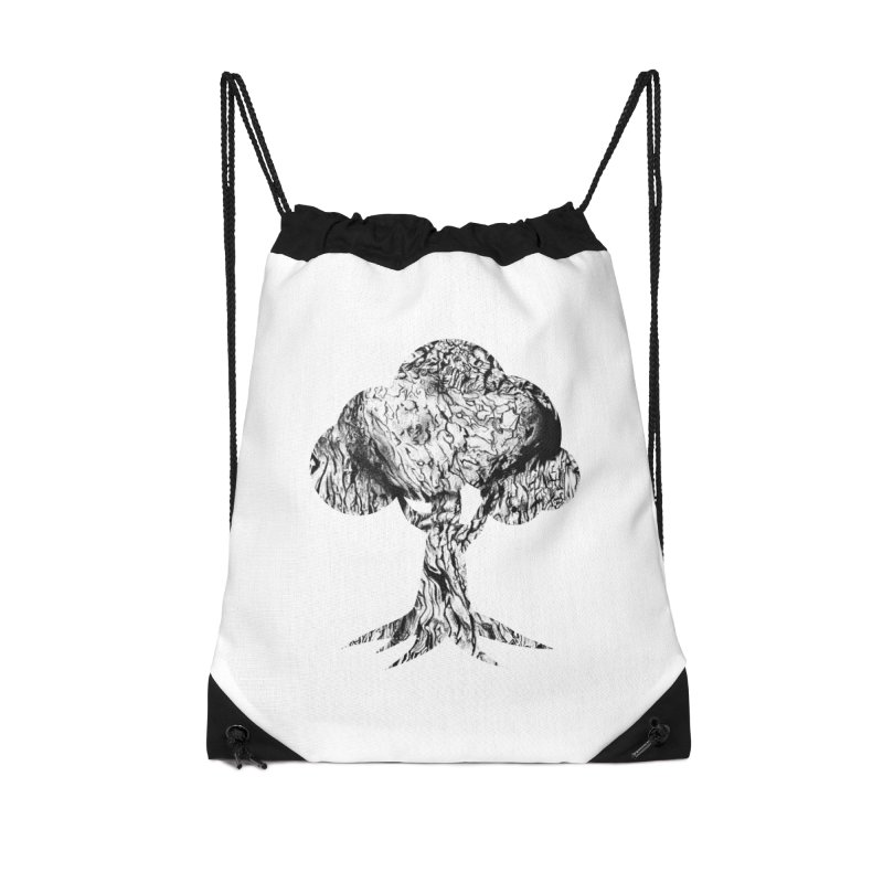 """""""charcoal tree bark 2"""" filled silhouette with white background Accessories Bag by Miss Jackie Creates"""