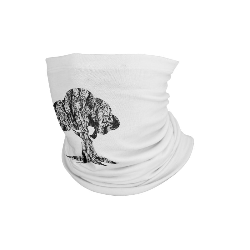 """""""charcoal tree bark 3"""" filled silhouette with white background Accessories Neck Gaiter by Miss Jackie Creates"""